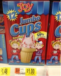 joy cones $1.00 Walmart