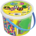 Want a Craft Idea for the Kids that is Easy and Fun? Perler Multi-Color Bead Bucket